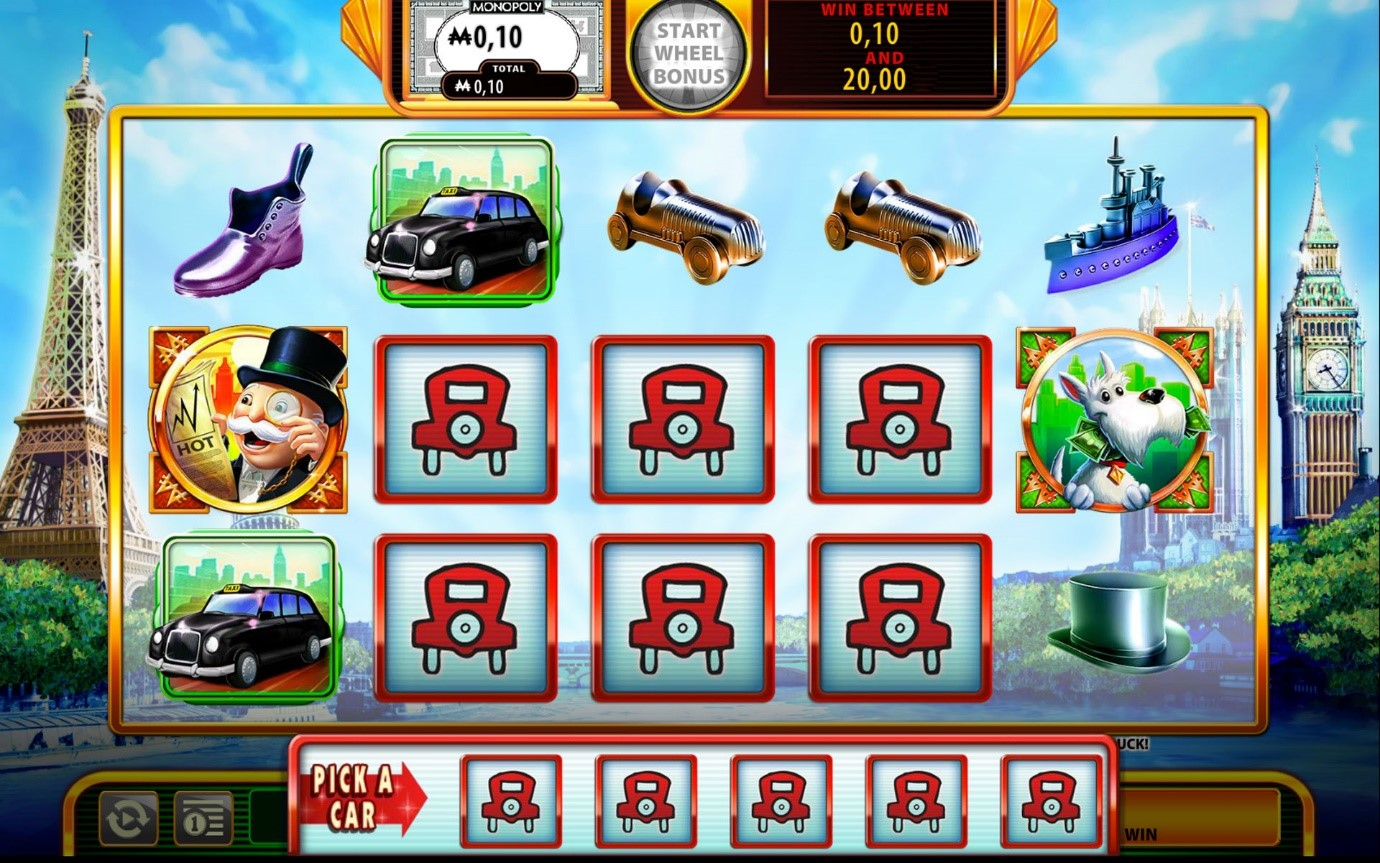 find Free Parking on Super Monopoly Money slots game