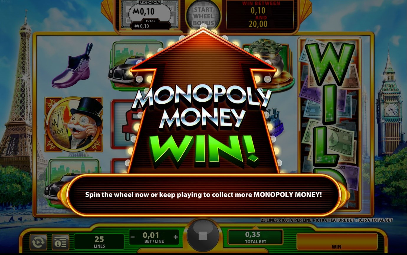Monopoly Money Wild – spin and win