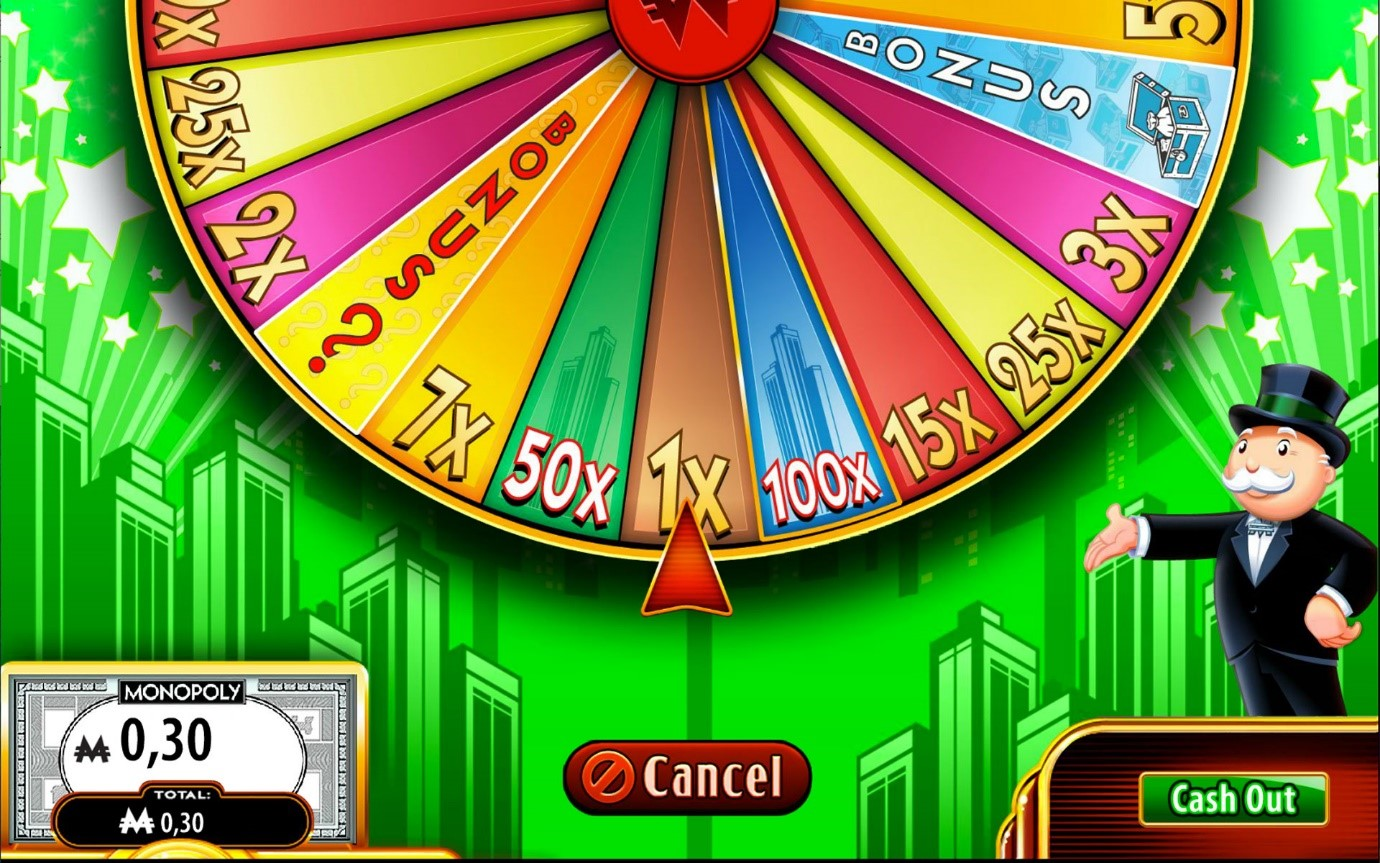 try the Wheel Bonus Super Monopoly Money slots game