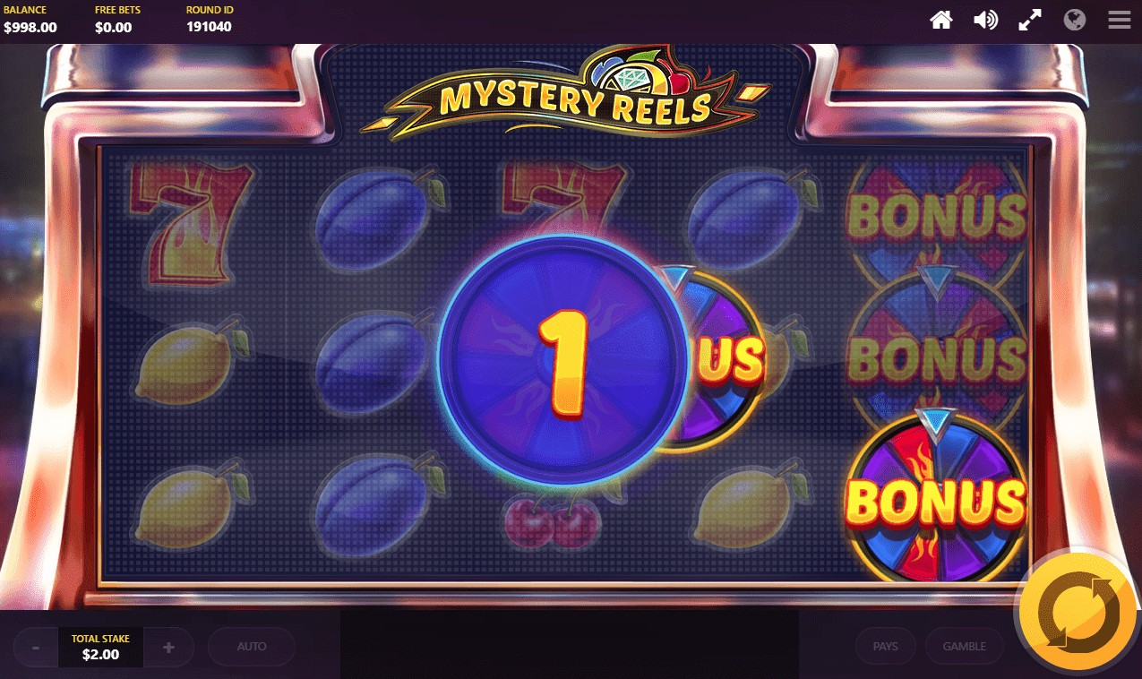 Bonus feature triggered during Mystery Reels online slot