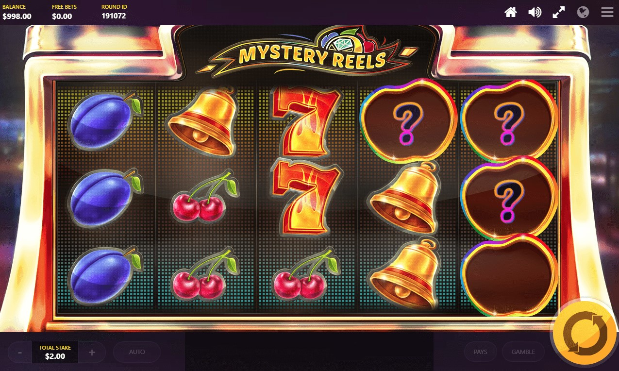 Mystery symbol feature displayed during Mystery Reels online slot spin
