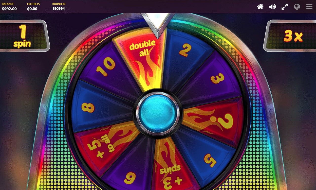 Wheel Bonus feature from Red Tiger's Mystery Reels video slot