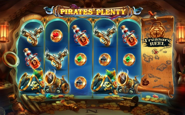 "Immortal Romance – ""Pirates' Plenty The Sunken Treasure online slot screenshot"
