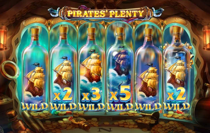 Wild Ships feature from Pirates Plenty The Sunken Treasure slot machine