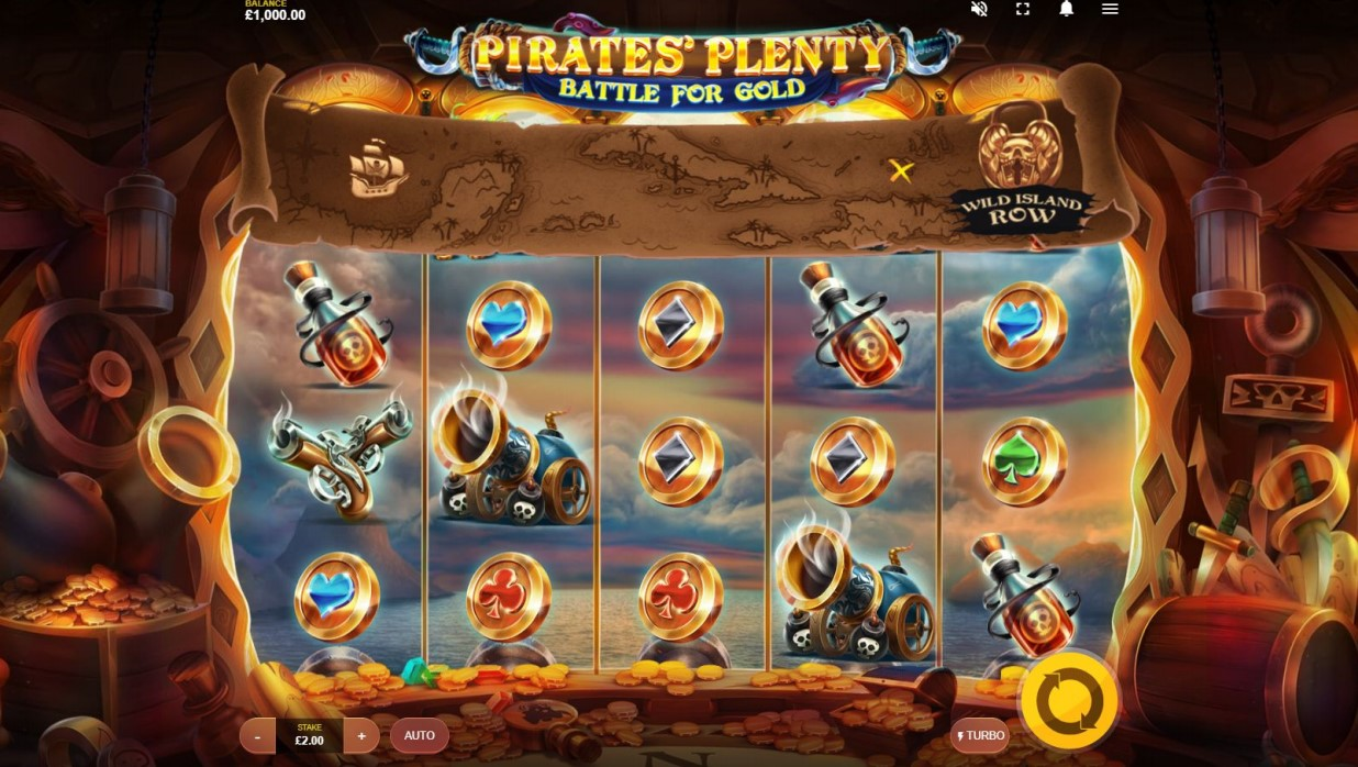 Play Pirates' Plenty Battle For Gold slot online at PlayOJO