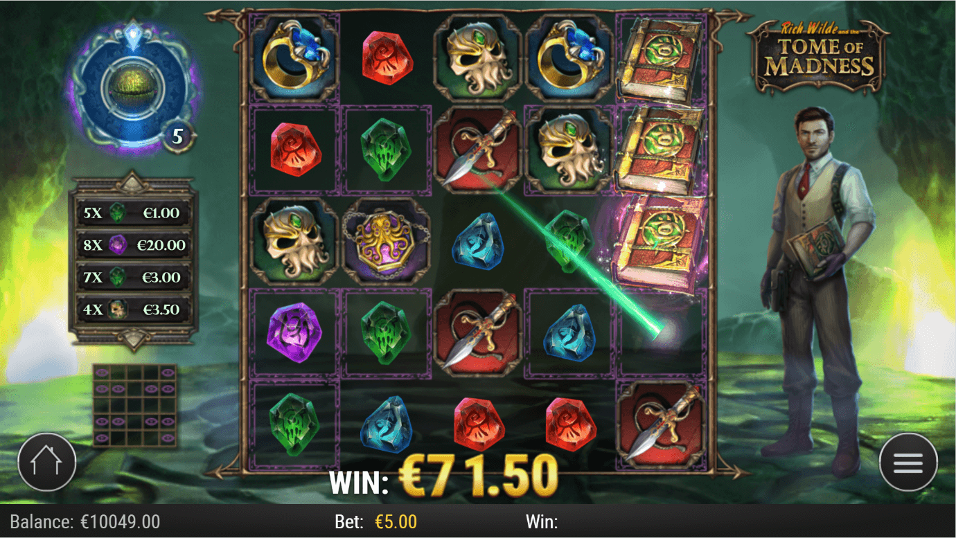 Mobile version of Rich Wilde Tome of Madness online slot by Play'N GO