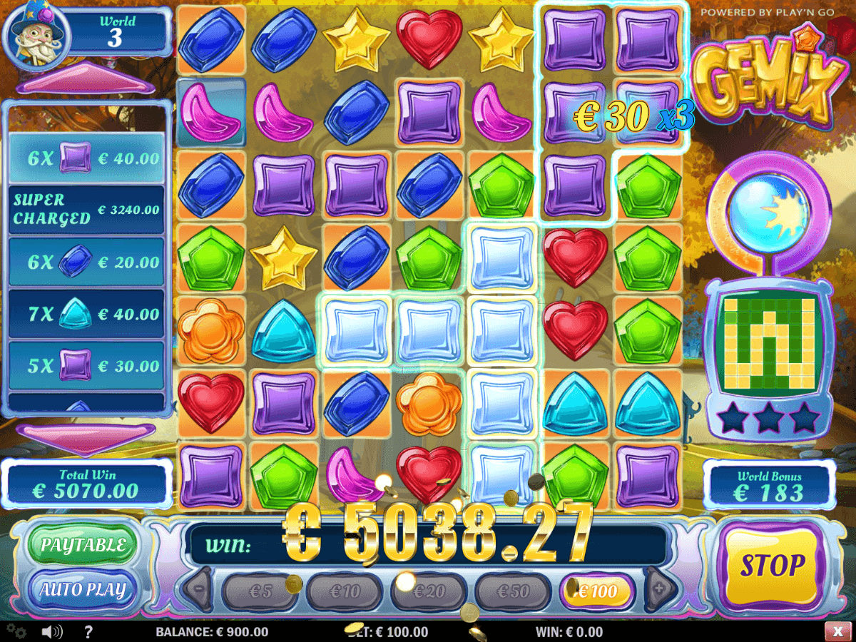Big win in Super Mode in PlayOJO's GEMiX video slot, made by Play'N GO