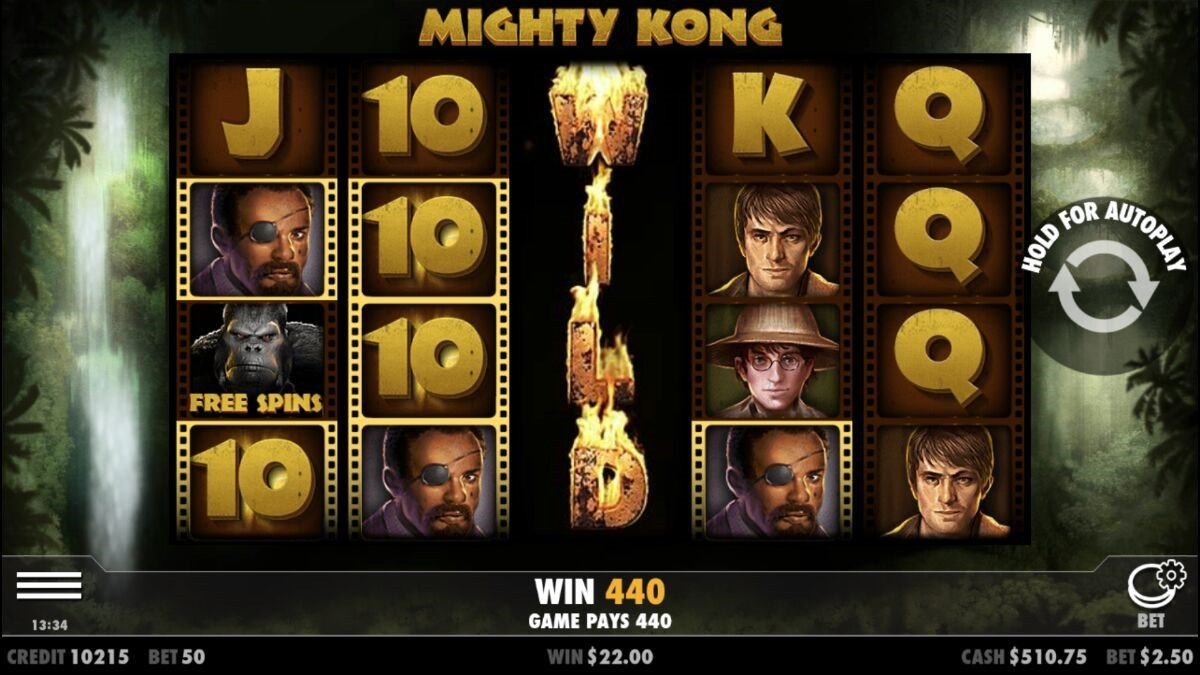 Might Kong online slot with expanding Wild symbol