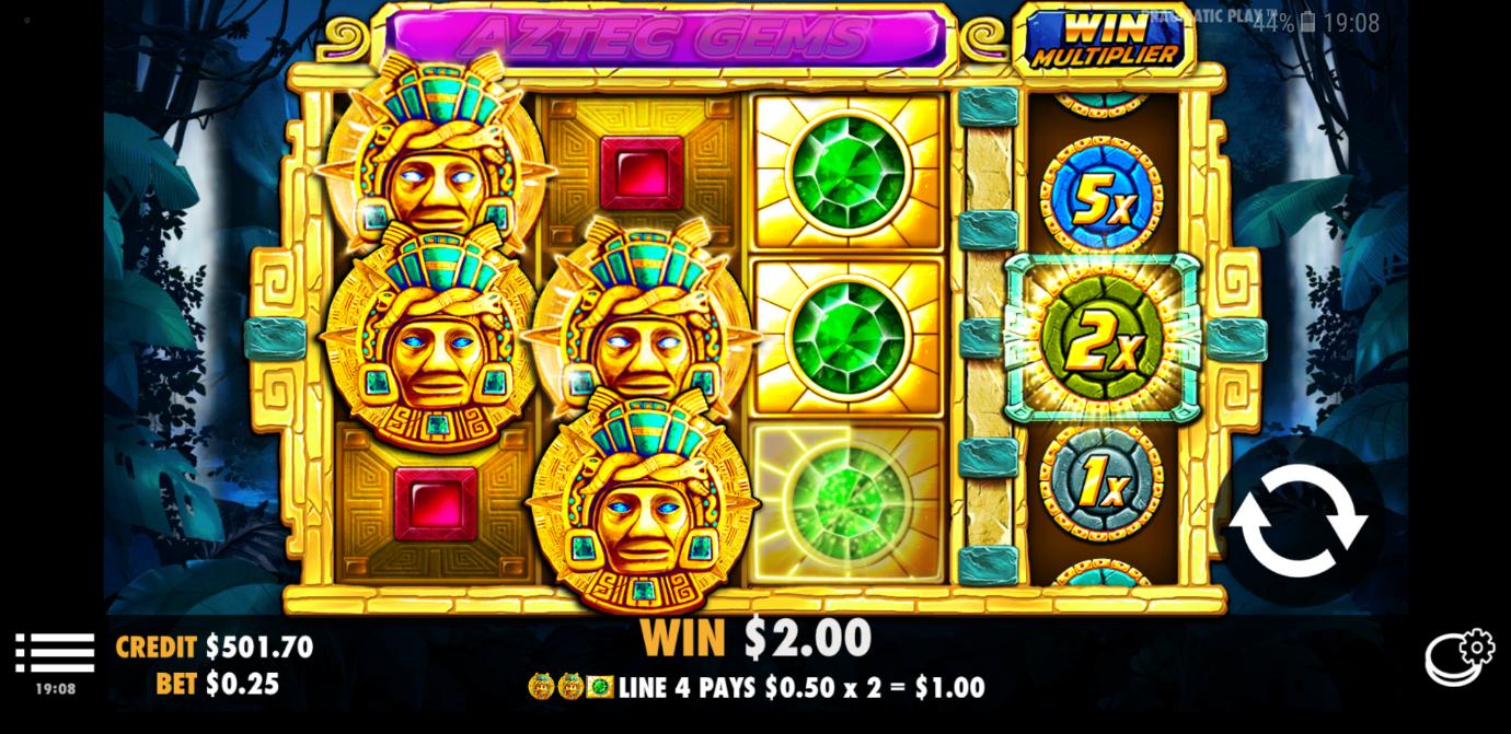 Aztec Gems mobile slot from Pragmatic Play
