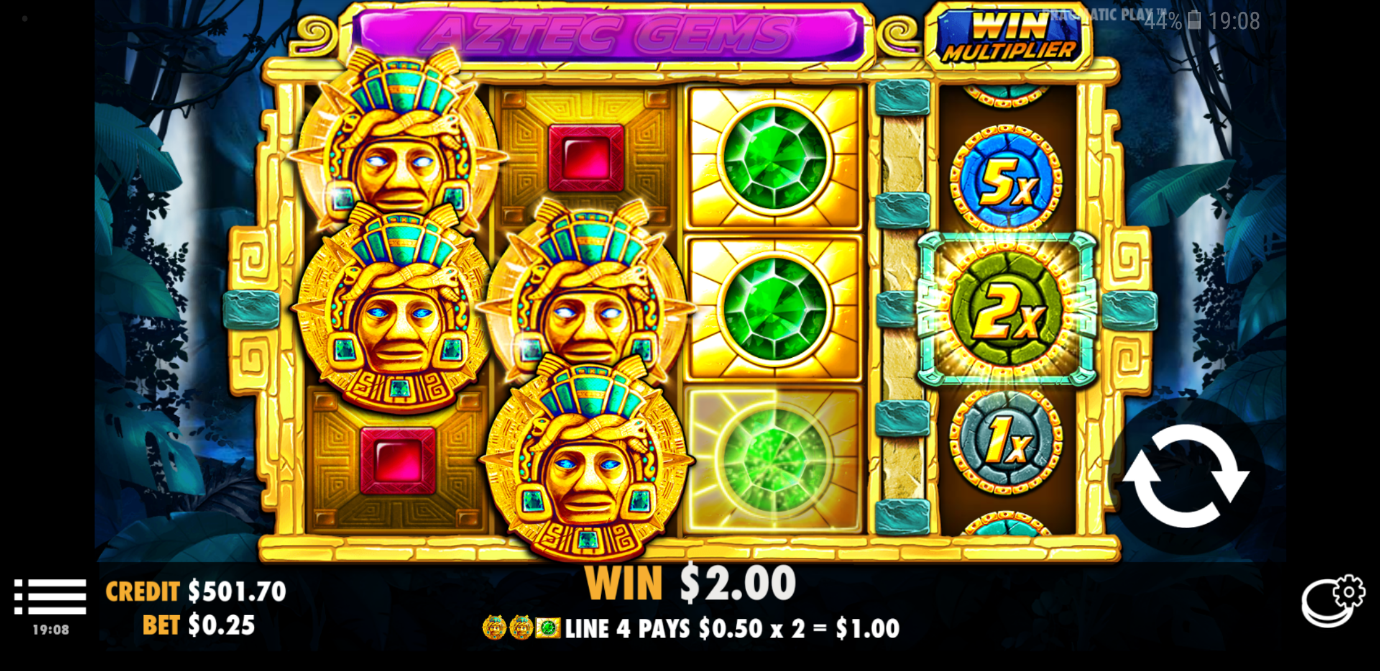 Aztec Gems mobile slot from Pragmatic Play