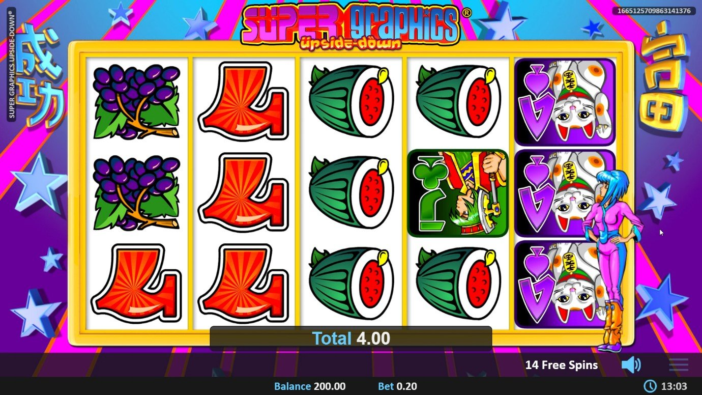 Super Graphics Upside Down video slot by Realistic Gaming