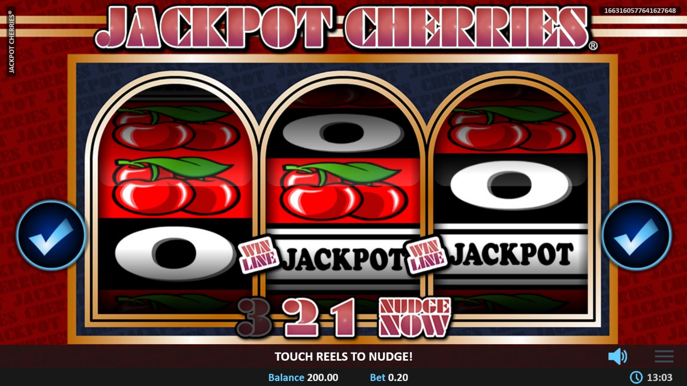 Nudge feature of Jackpot Cherries classic slot at PlayOJO