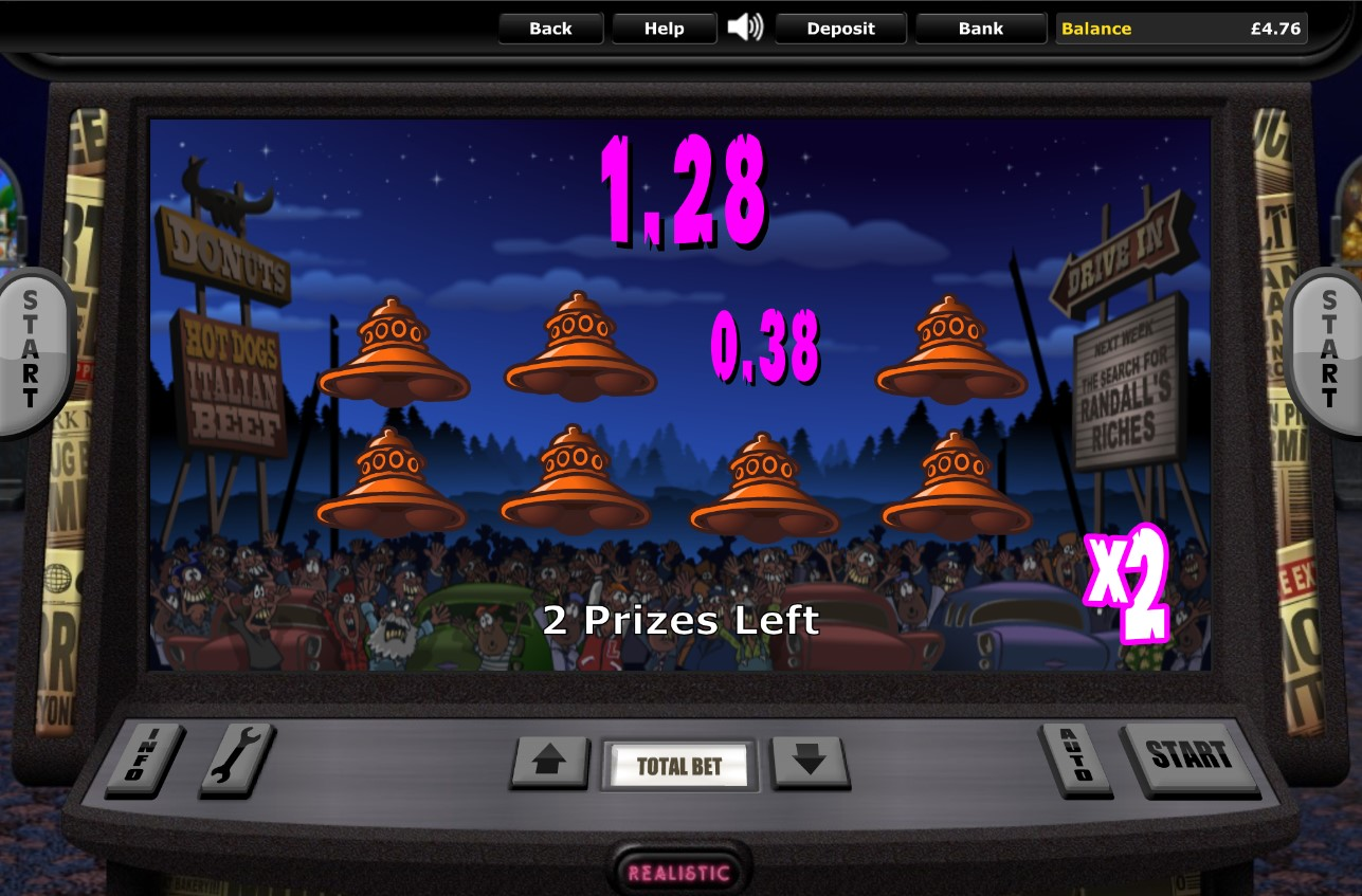 Prize picker game from It Came From The Moon online slot