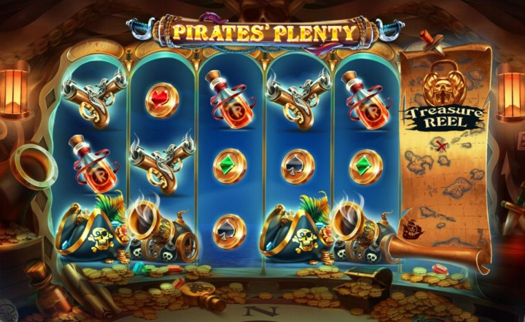 : PlayOJO's Pirates Plenty video slot game in action