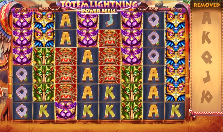 Totem Lightning Power Reels online slot pays up to 7,777x your stake at PlayOJO