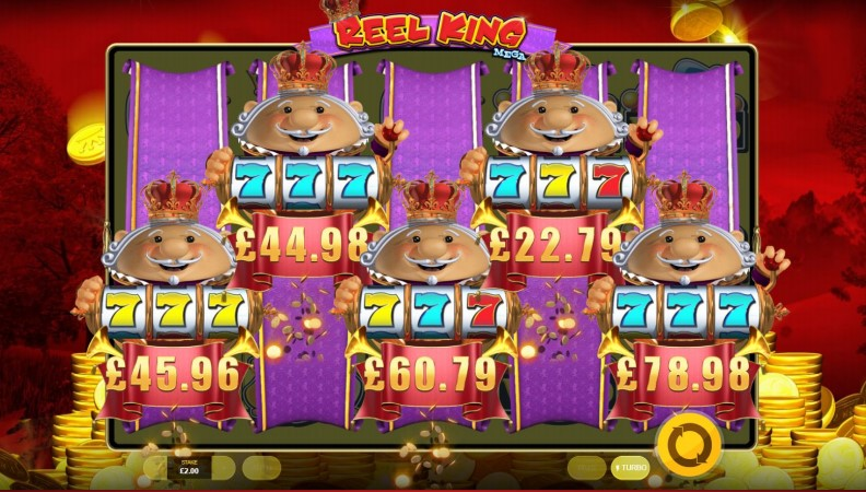 Reel King bonus feature during Reel King Mega online slot