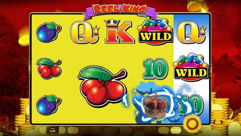 King's Crown bonus game in the Reel King Mega slot at PlayOJO