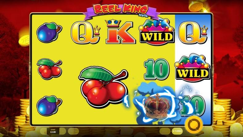 King's Crown bonus game in the Reel King Mega slot at PlayOJO