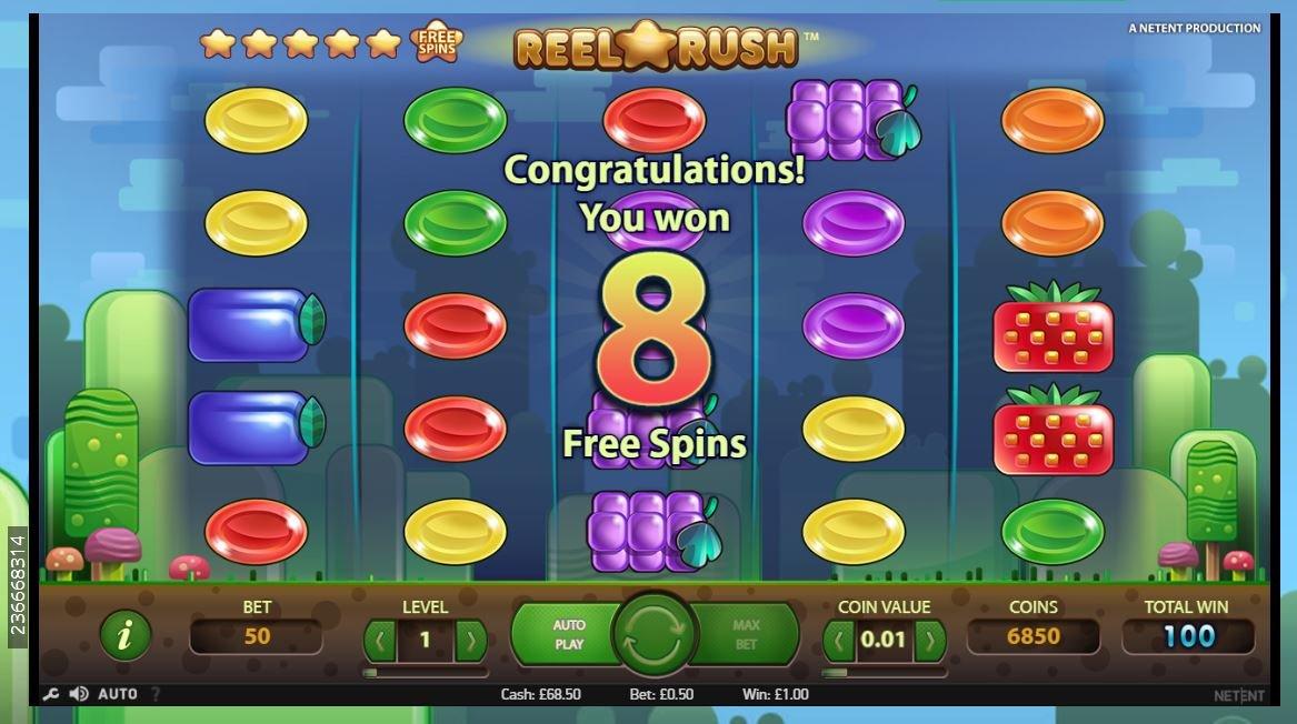 Reel Rush RTP is high- playOjo