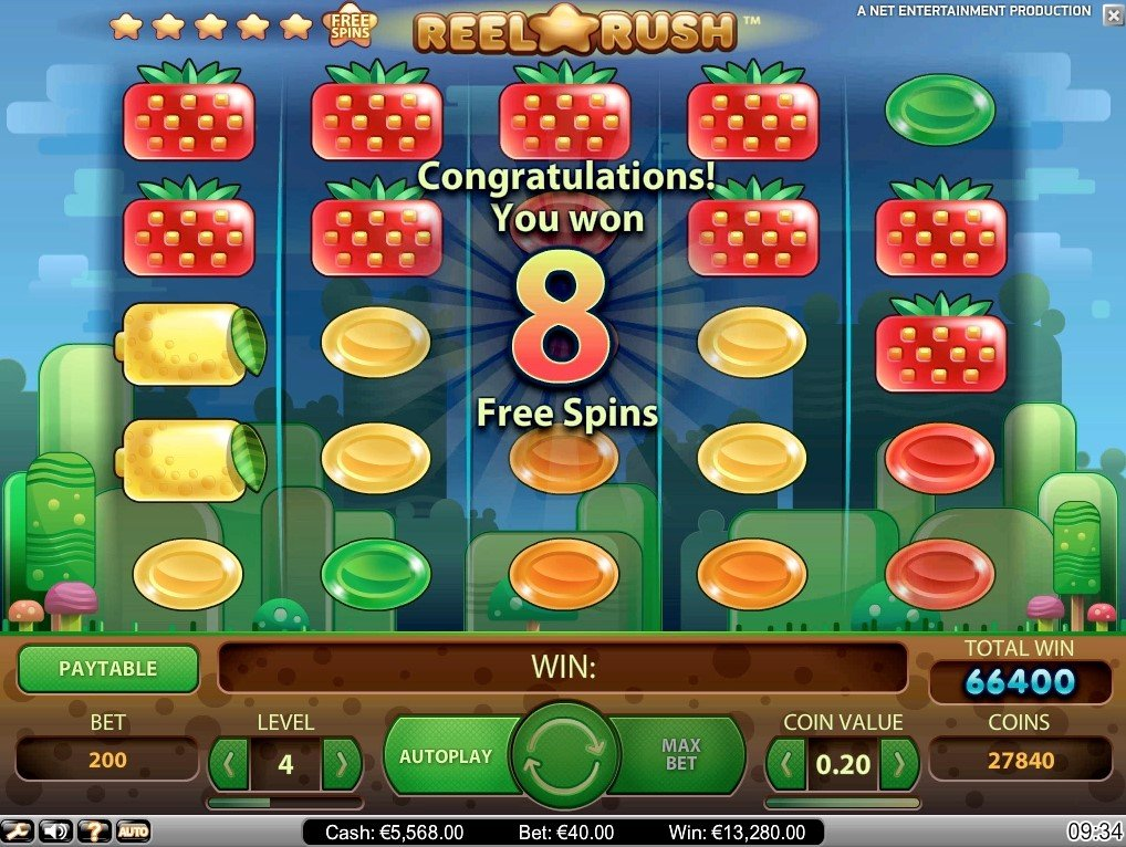 Respins & Free Spins Reel Rush slot games
