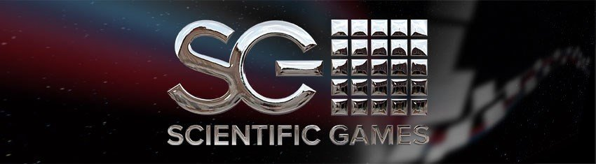 Silver rendering of the logo of gaming technology provider Scientific Games