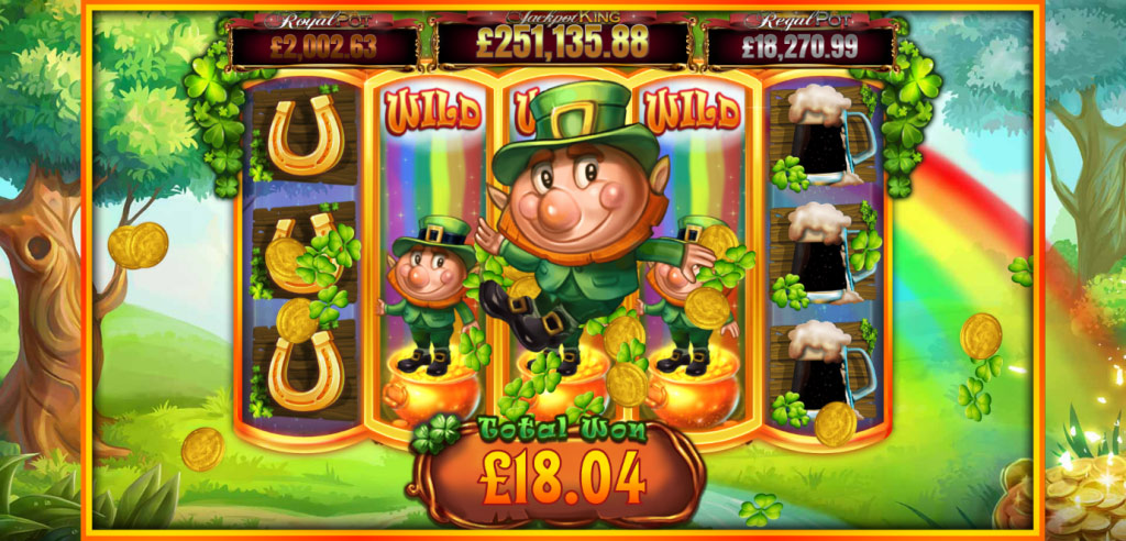 A big win during Slots O' Gold Rainbow Respins round