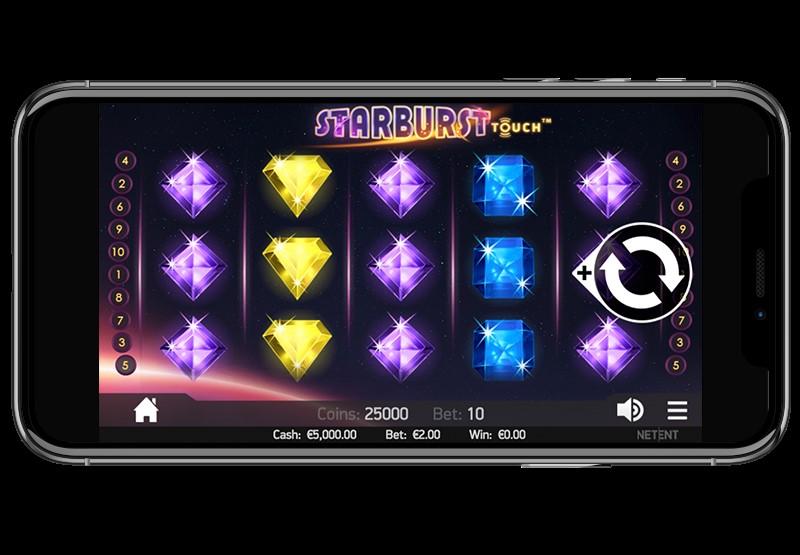Starburst slot's also on iPhone