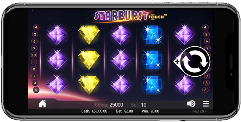 Starburst slot's also on iPhone
