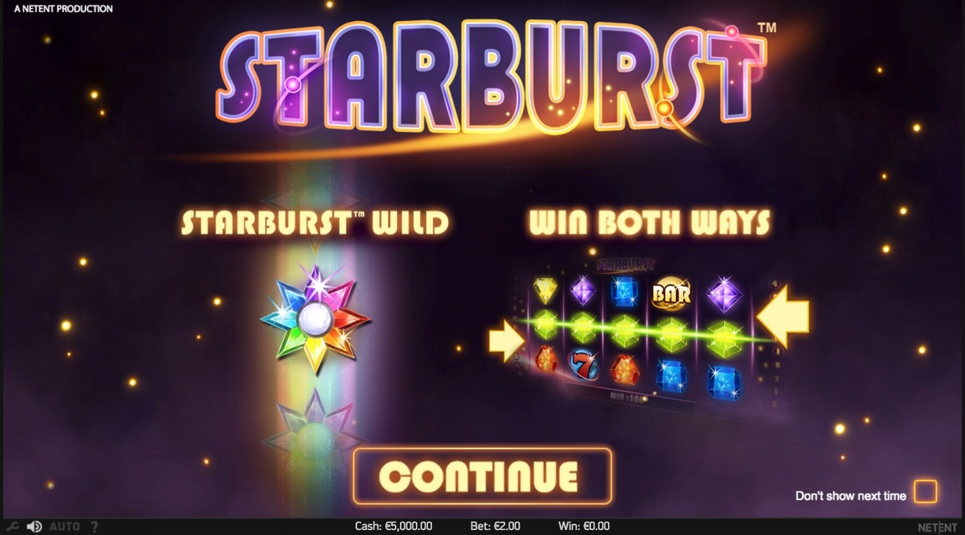 Win Both Ways and Starburst Wild – Starburst slots game