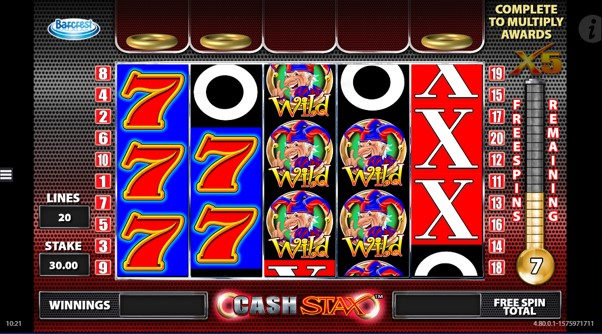Aim for the 5x multiplier during the Cash Stax free spins bonus