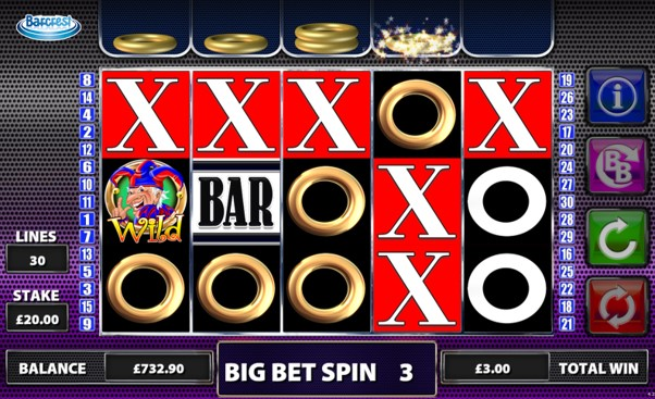 Get 5 spins for 1 coin when you play the Cash Stax slot's Big Bet Game