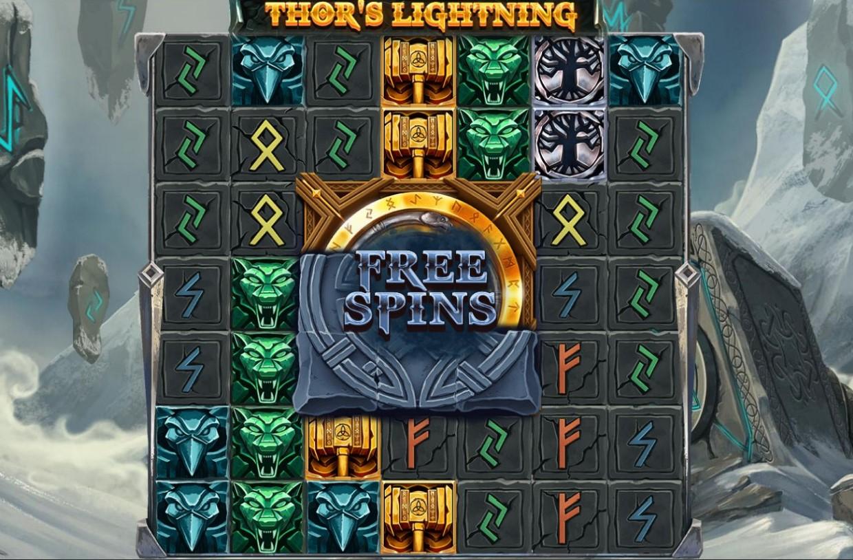 Screenshot from Thor's Lightning slot from PlayOJO casino