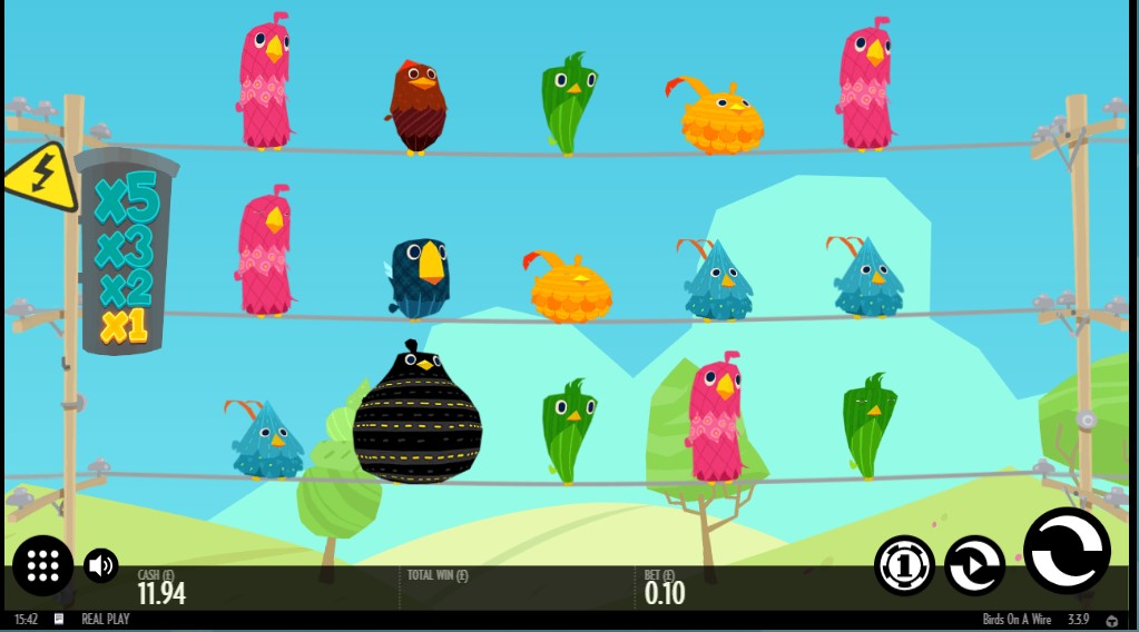 Thunderkick's ground-breaking Birds On A Wire online slot game