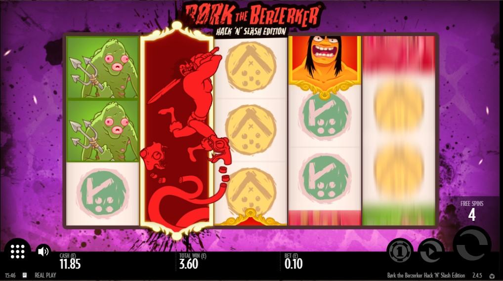 Free Spins bonus feature in Børk The Berzerker online slot
