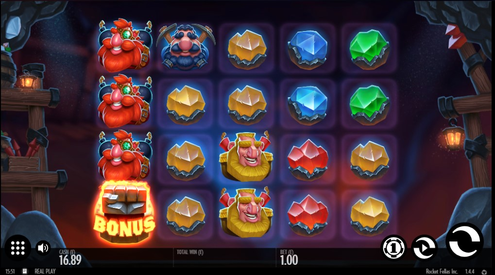 Bonus symbol appears during Rocket Fellas Inc. online slot game