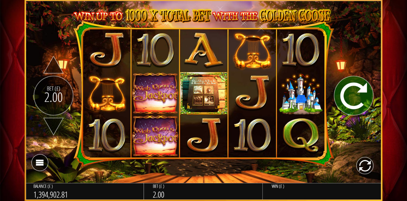 Base game reel spin during Wish Upon A Jackpot slot