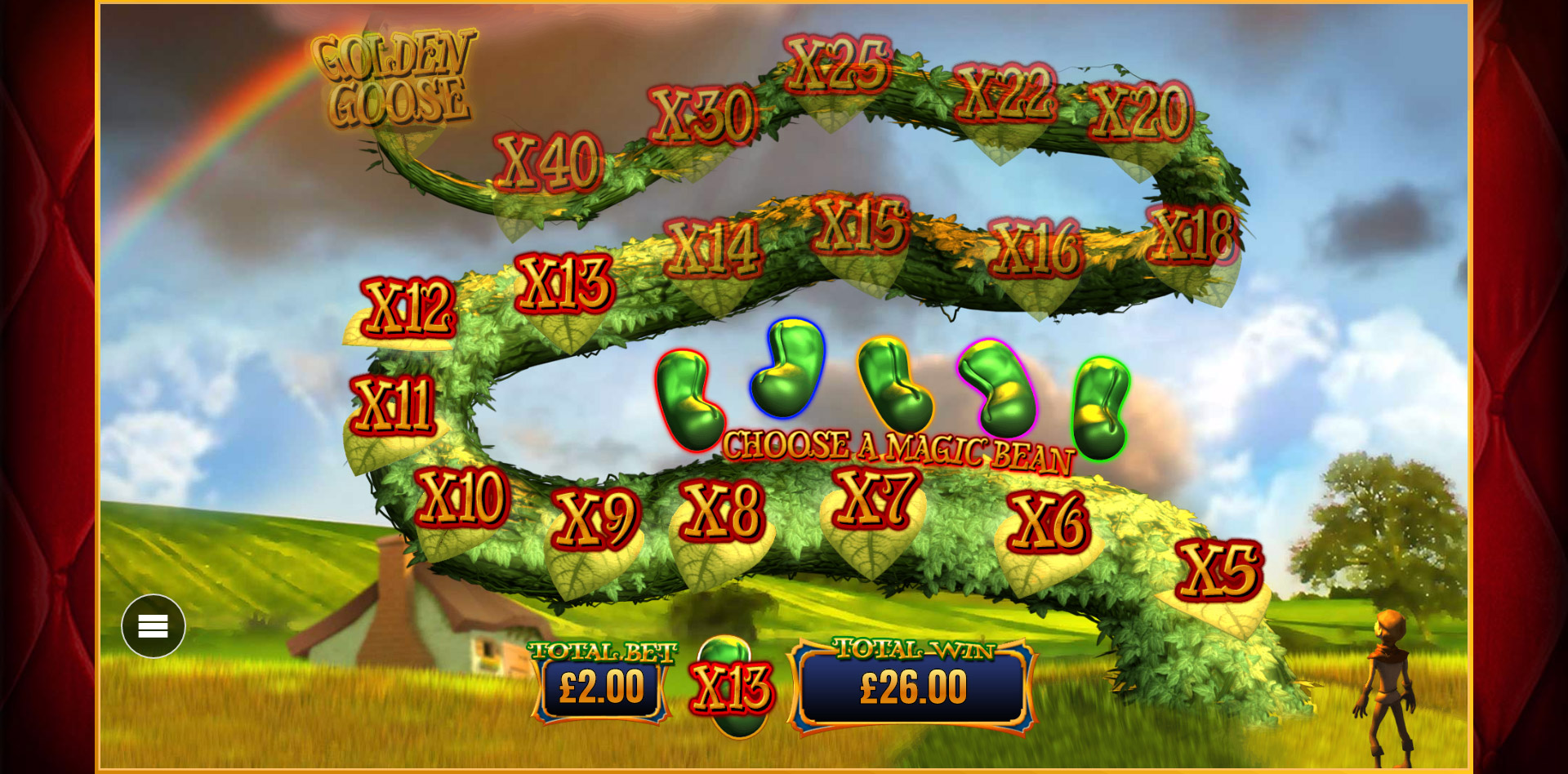 Trail game feature in Wish Upon A Jackpot slot at PlayOJO
