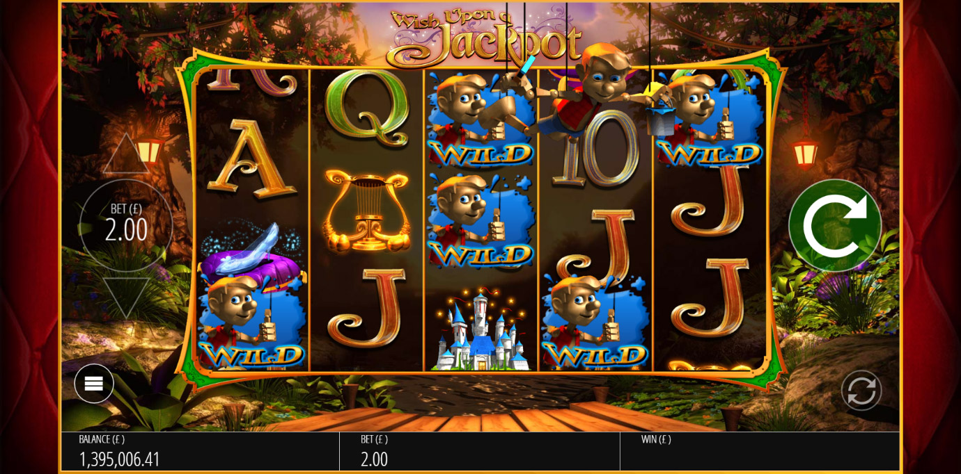 Pinocchio Wilds feature from Wish Upon A Jackpot casino game