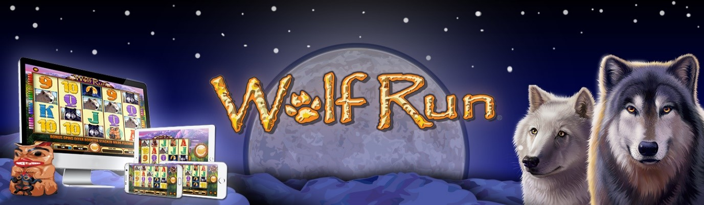 Wolf Run slot logo and phone, tablet and desktop games