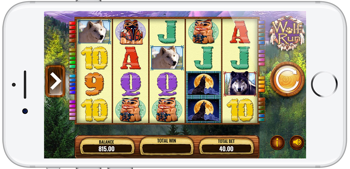 Play OJO's Wolf Run slot on iPhone for the ultimate vintage slots experience