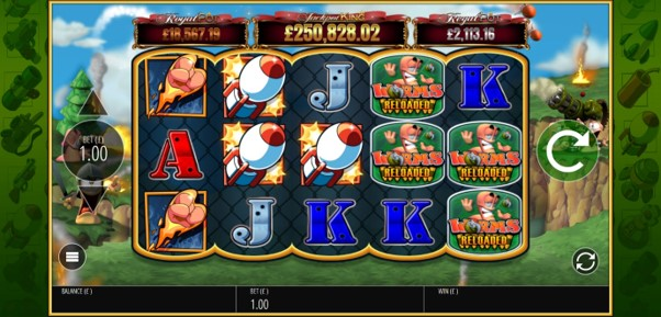Win up to 10,000 coins when you play Worms Reloaded online slot at PlayOJO