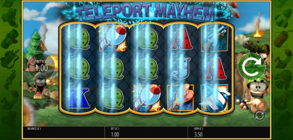 Worms Reloaded slot's Teleport Mayhem bonus creates new win combos