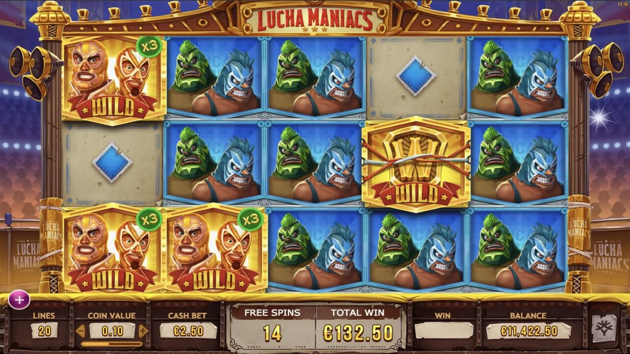 Play Yggdrasil's Lucha Maniacs mobile slot online at PlayOJO