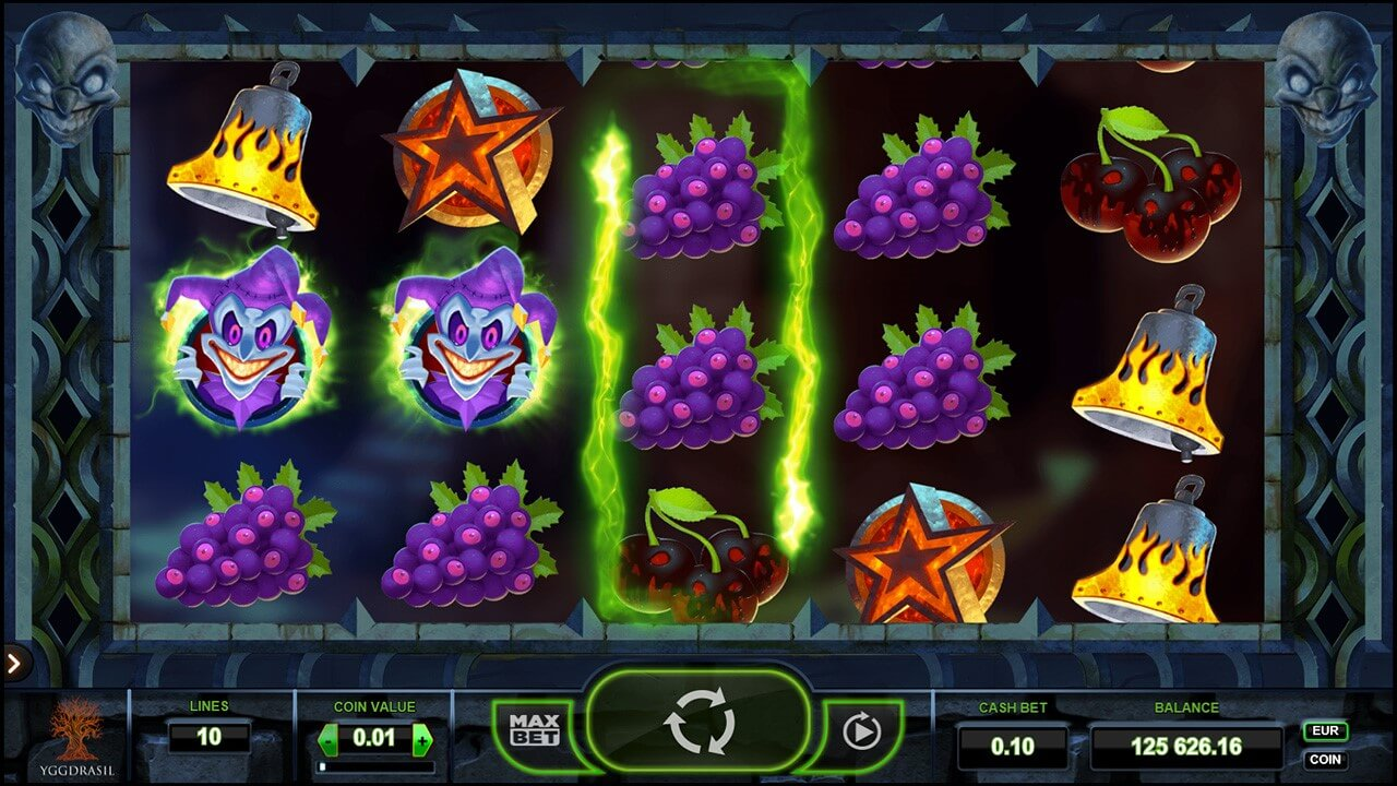 Screenshot from The Dark Joker Rizes slot game at PlayOJO online casino