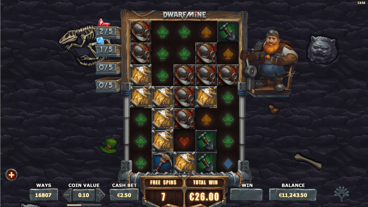 Get money back when you play Dwarf Mine slot at PlayOJO