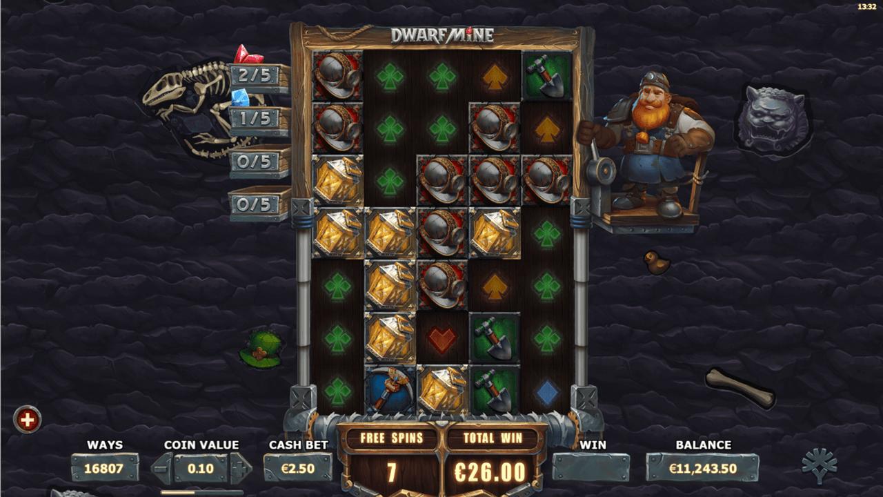 Get money back when you play Dwarf Mine slot at PlayOJO