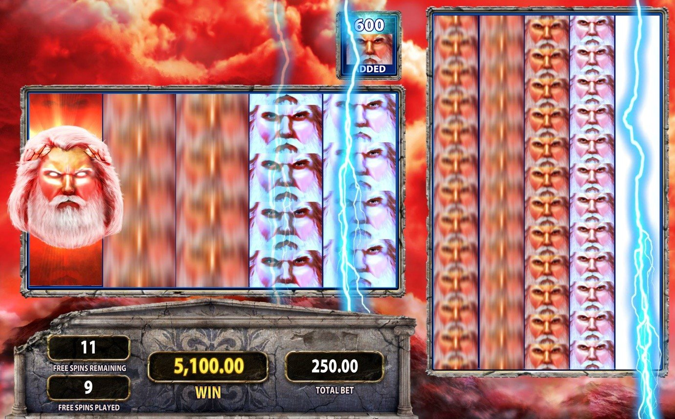 Big win on Zeus 1000 online video slot with Colossal Reels feature