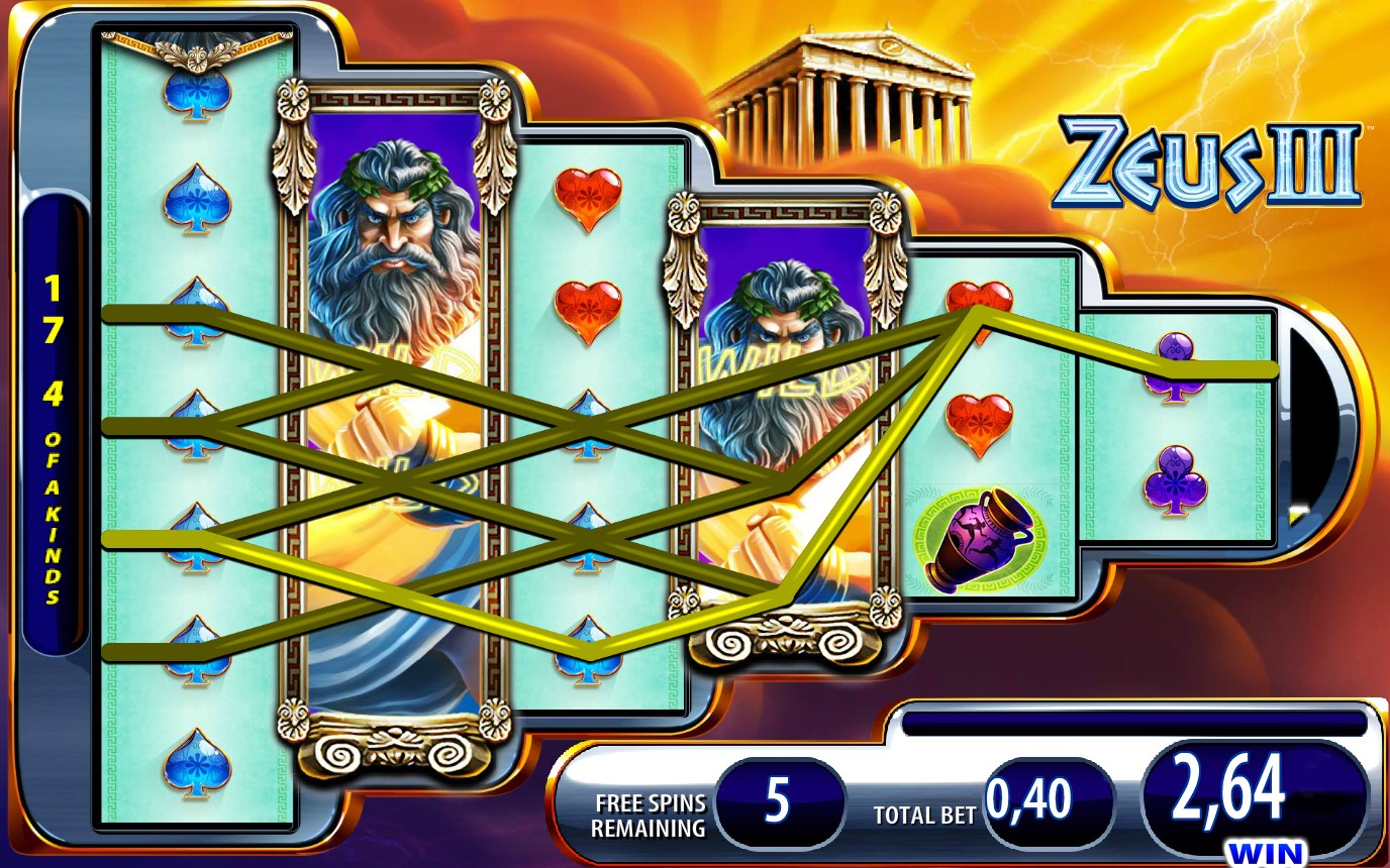 Free Spins game in Zeus III online slot