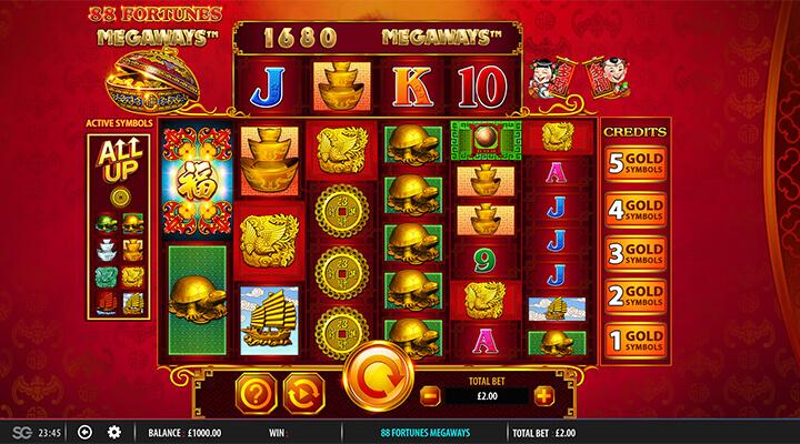 Spela 88 Fortunes slot