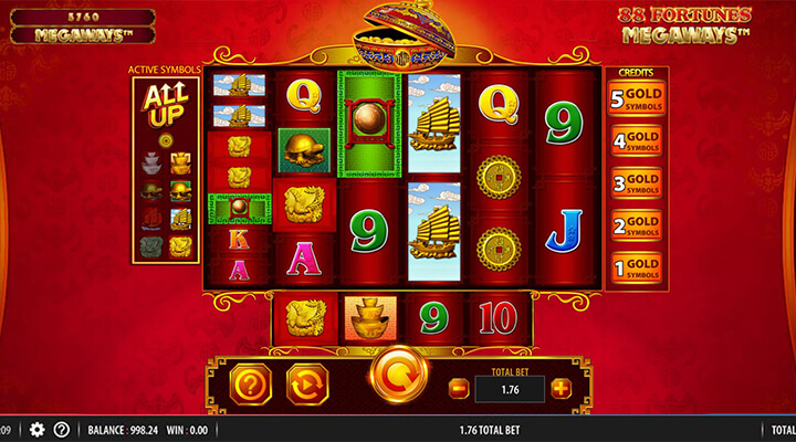 SG Gaming 88 Fortunes slot